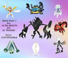 ULTRA BEAST 6IV Pokemon Custom Leggendary Necrozma Kartana Pheromosa Sole Luna