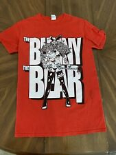 The Bunny The Bear Men's Small Red T-shirt Girl With Axe