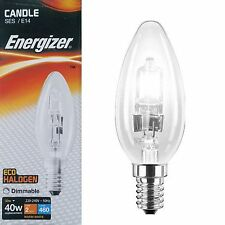 Energizer Halogen Small Edison Screw SES E14 Candle Energy Saving Light Bulbs