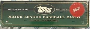 2002 Topps Baseball Complete Set Factory Sealed 718 Cards !