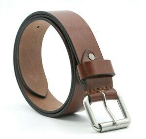 Leather Mens Belt Belts Strap 100% Genuine Full Grain Real Black Jeans Trousers