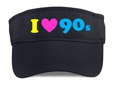 I Love The 90s Visor - 90's Fancy Dress Costume Outfit Neon Party Hat