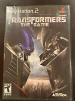 Transformers The Game - Complete PlayStation 2 PS2 Game
