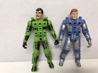 Centurions Max Ray and Ace McCloud Action Figures 1986 Kenner Used