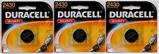 3~NEW! DURACELL 2430 Security Medical Fitness Electronic 3 Volt Lithium Battery