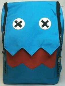 BLUE MONSTER CREATURE BACKPACK BOOK-BAG BAG JAGGED TEETH UNIQUE FUNNY NOVELTY