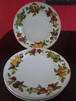 "SAKURA VERONA STONEWARE, 4  11"" Dinner Plates Fruit Design by  Karelyn Siegler"