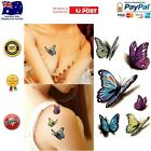 3D Colorful Butterfly Body Art Temporary Tattoo Removable Waterproof Sticker