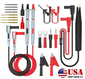 21 In 1 Multimeter Test Lead Kit Power Wire-Piercing Probe Meter Alligator Clip