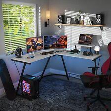 51 L Shaped Gaming Desk Pc Laptop Computer Table Home Corner Workstation White