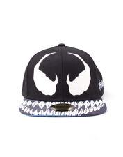 OFFICIAL MARVEL COMICS - VENOM EYES/ TEETH COSTUME STYLED BLACK SNAPBACK CAP
