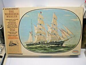 VINTAGE 1966 AURORA WANDERER WHALER MODEL KIT #440/595 SHIP PARTS ONLY
