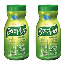 Benefiber (2x190) servings  Non-thickening poweder Fiber, 26.8oz each Sugar Free