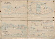 1902 EASTHAMPTON SUFFOLK COUNTY LONG ISLAND NEW YORK FIRE ISLAND BEACH ATLAS MAP