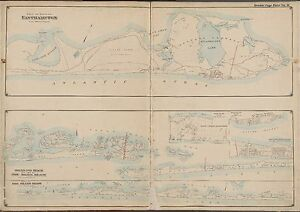 1902 EASTHAMPTON SUFFOLK COUNTY LONG ISLAND NEW YORK FIRE ISLAND BEACH ATLAS MAP