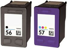 Refilled HP 56 Black And HP 57 Colour Ink Cartridges