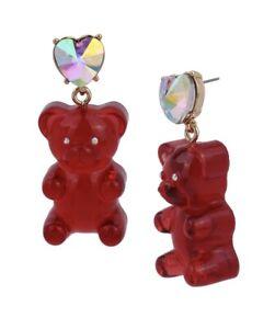$35 Betsey Johnson Gummy Bear Drop Earrings Q619