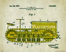 Caterpillar Tractor Patent  Poster Art Print Vintage Charles Freitag  PAT338