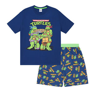 Teenage Mutant Ninja Turtles Official Gift Mens Loungewear Retro Short Pajamas