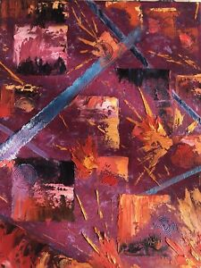 oil paintings original  abstract oil painting on canvas size 11/14
