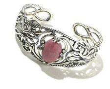 "Carolyn Pollack Sterling Silver Rhodonite Cuff Bracelet, 6 3/4"" #6603"