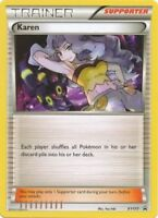 Pokemon TCG Karen XY177 Black Star Promo Battle Arena Trainer NM/M