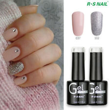 2 Pieces RS Nail Gel Nail Polish UV LED Soak Off Glitter Light Pink Color 37+102