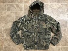 Mossy Oak Boys YOUTH XL Hunting Jacket Hooded Bomber Turkey Hunting Cotton