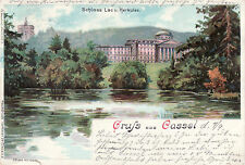 AK, Kassel, Gruß aus Cassel - Schloß Lac u. Herkules, 1900 (D)5026-1