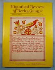 Historical Review Of Berks County Vintage Magazine Spring 1984 Pennsylvania (O)