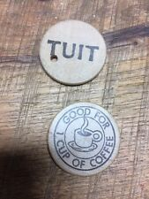 New listing Round Tuit Wood Token