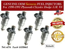 Re-Manufactured Set Of 6 Genuine Siemens Fuel Injectors For 2003-2004 Chrysler Town /& Country 3.8L V6 04861238AB