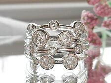 QVC-Diamonique Bezel Set Sterling Silver Ring Size 10