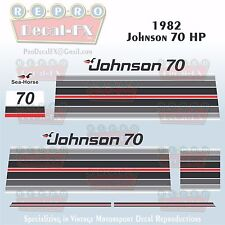 1982 Johnson 70 HP Sea-Horse Outboard Reproduction 14 Pc Marine Vinyl Decals