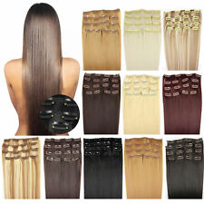 For Full Head Natural Clip-In Real Remy Human Hair Extensions 100gram20Inch 50cm