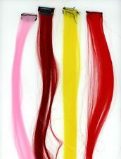 "Hair Extensions 19"" L. 4 Neon Colors Synthetic + micro Hair Comb 1 1/4"" W B-5-17"