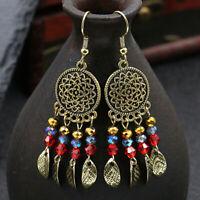 Fashion Bohemia Retro Tassels Leaves Measly Drop Dangle Earrings Women Jewelr MW