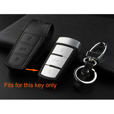 3 Buttons Smart Remote Key Fob Holder Shell Cover Case Leather For VW Passat CC