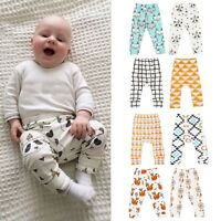 Kids Boys Girls Harem Pants Baby Printed Trousers Bottoms Leggings Sweatpants