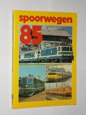Gerrit Nieuwenhuis Spoorwegen 1985. Netherland Trains/Trolleybus Softback Book..