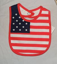 New Baby Bib First 4th of July United States America Flag Team Usa Olympics