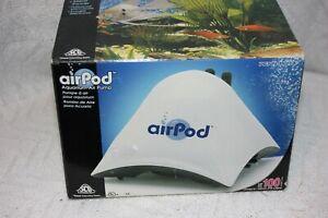 Air Pod Aquarium Air Pump For Up To 100 Gallon Aquariums Silent Power #APP6