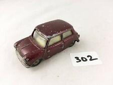 NICE VINTAGE CORGI TOYS # 226 MORRIS MINI MINOR MAROON/YELLOW DIECAST CAR 1960