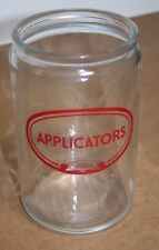 Vintage PROFEX Applicators Glass Jar, No Lid, Excellent