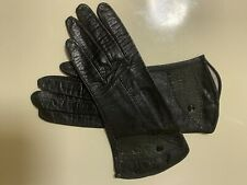 Aris Imported Black Real Kid Leather Gloves Sz6
