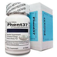 (1) Bottle Phent37 [60 Tablets] Fat Burner Appetite Suppressant
