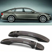 Carbon Fiber Exterior Door Handle Cover Overlay For Audi A7 w/ Intelligent Key