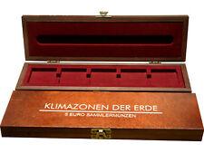 """Holz-Münzkassette für 5 Euro Münzen """"Klimazonen der Erde"""" in Quadrum-Kapseln NEU"""