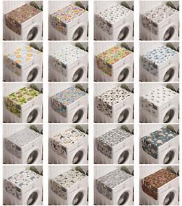 Ambesonne Sketch Art Washing Machine Organizer Cover for Washer Dryer
