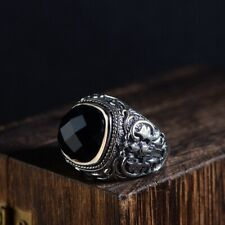 Real 925 Sterling Silver Ring Vajry Agate Size 8 9 10 11 12